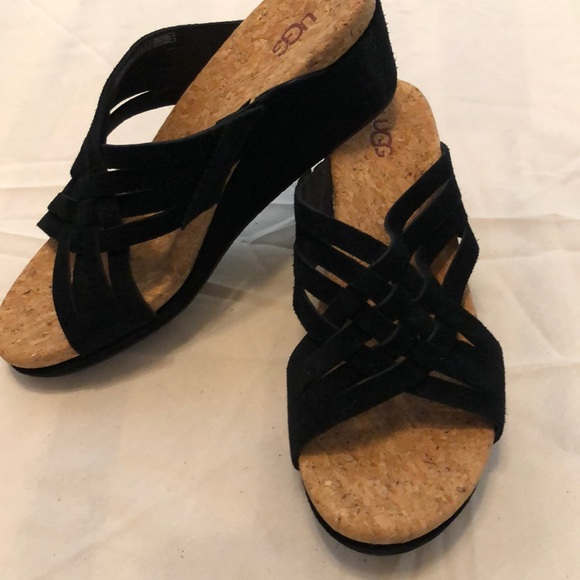 UGG Shoes - Ugg black suede wedges